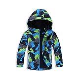 Frühling und Herbst Junge Camouflage Gürteltasche plus Samt winddicht wasserdicht Mantel warme Jacke Jacke , as picture , 150