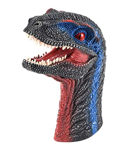 Magicwand Realistic Silicone Based Velociraptor Hand Puppet with Exquisite Detail for Kids as Well & Adults