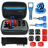 PULUZ 13 in 1 CNC Metal Gopro Accessories Combo Kit with EVA Case (Screws + Surface Mounts + Tripod Adapter + Storage Bag + Wrench) for GoPro HERO6 /5 /5 Session /4 Session /4 /3+ /3 /2 /1, Xiaoyi and Other Action Cameras