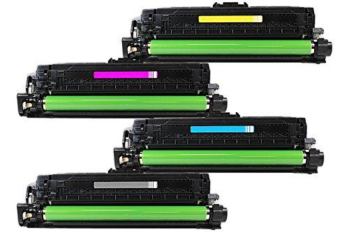 Rebuilt für HP LaserJet Pro 500 color MFP M 570 dw - CE400A - CE403A - Toner Sparset Black, Cyan, Magenta, Yellow - Für ca. 1 x 5.500 & 3 x 6.000 Seiten (5% Deckung) Fhp-serie