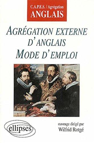 Agregation externe d'anglais mode d'emploi