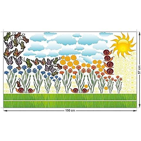 Wall Sticker Sticker Set per le farfalle Living fiori Nube