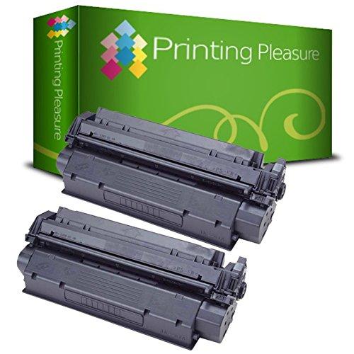 Laserjet 3380 Serie (Printing Pleasure C7115A 15A/Q2613A 13A/EP-25Kit 2Kompatible Toner für HP LaserJet 1000/1005/1200/1220/1300/3080/3300/3310/3330/3380/Canon LBP-1210/558Serie, schwarz)