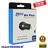 100% New Model M4 Plus MAXTRONICS™ AnyCast M4 Plus TV HDMI Wireless Display Dongle Mobile To TV FULL HD For Android Phone IPhone Windows Phone IPad Laptop Tablet Mirracast Chromecast TV Stick