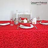 Giovanni Dolcinotti Table Collection | Tovaglia Jacquard (Rosso, 140x170)