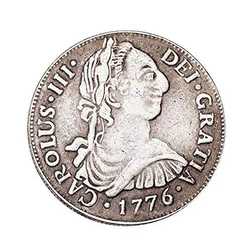 Eqerlian Silberdollar Silbermünze Antike Sammlung Messingmünze 1776 Spanische Vintage Alte Silbermünze Münzsammlung