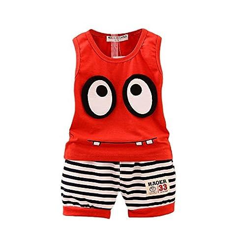 BOBORA Toddler Baby Boy Summer Clothing Set Sleeveless Top + Short Pants Clothes Outfits Set