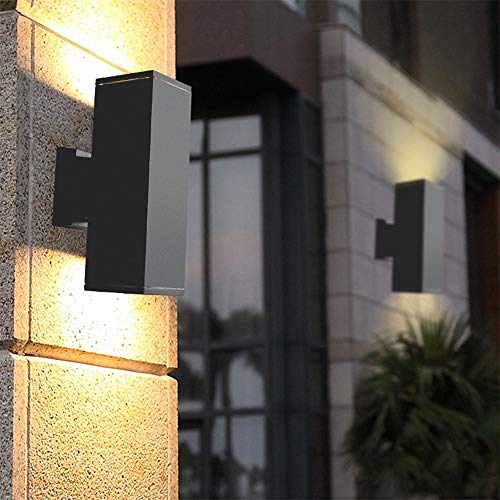 JAY-LONG LED Wandleuchte Aus Aluminiumdruckguss, IP65 wasserdichte Dekorbeleuchtung, Gartenlampe, Geeignet Für Den Innenhof-Balkonkorridor, 85-265V, 10W Warmes Licht
