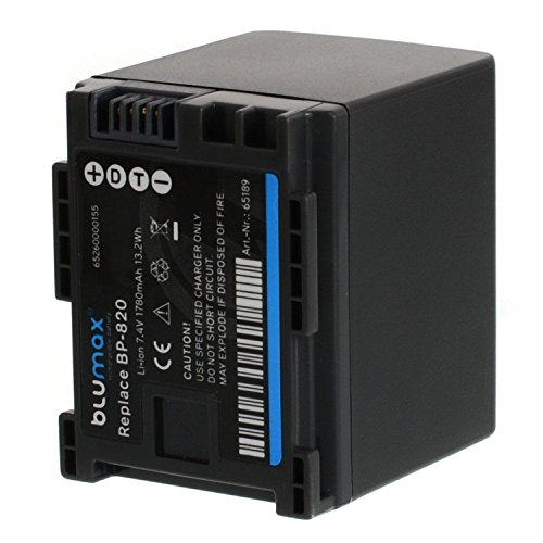Blumax-BP-820-Replacement-1780mAh-74V-Battery-Power-Pack-for-Canon-Legria-Series-HF-G30-and-XA-Series-XA20-XA25