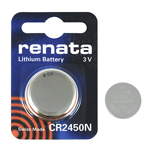 2 x Renata CR2450N Swiss Made 540mAh Batterien Zelle Münze Schaltfläche Watch 3V-Lithium-Batterie