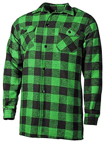 Outdoor Holzfäller Hemd Woodcutter Grün-Schwarz XXL