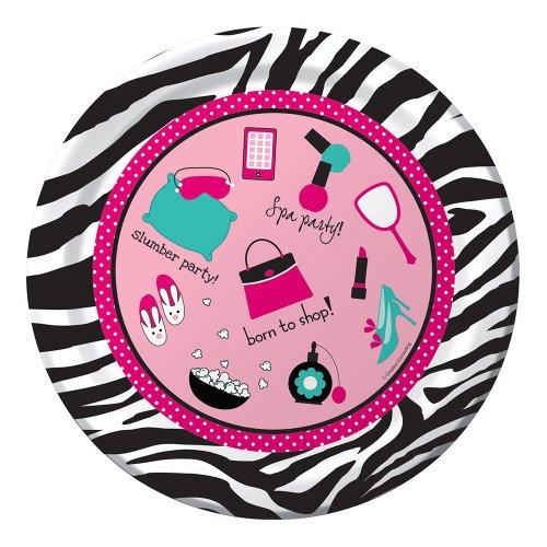 Pink Zebra Boutique Dinner Plates