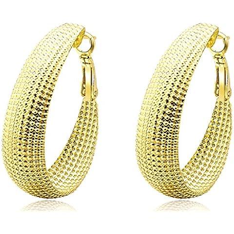ROXI Donna generoso orecchini a cerchio placcati in oro 18kt a forma - Hot Diamonds Cerchio Orecchini