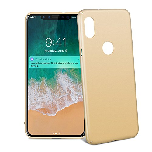 "Coque iPhone X, Riffue® Housse Etui PC Plastique Dur Robuste Couverture Arrière [Ultra Slim] [Ultra Léger] Anti-Rayures Anti-dérapante Protection Case Cover pour Apple iPhone X(10) 2017 5.8"" - Or Or"