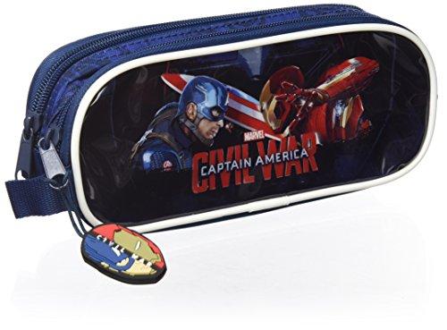 Captain America - Double Portatodo 21 x 8 cm (Safta 811609513)