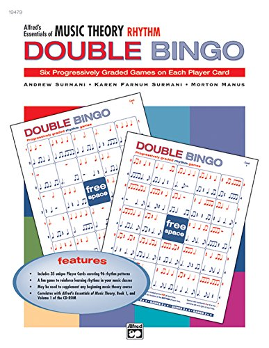 Alfred's Essentials of Music Theory Rhythm, Double Bingo: Six Progessively Graded Games on Each Player Card par Andrew Surmani