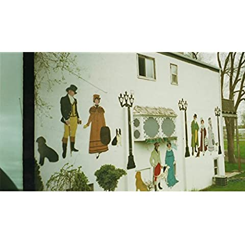 POSTER Mural building south side Main St. bottom St. George Street Deseronto Ontario. Photograph taken donated Barbara Thompson 2003. Deseronto eastern Ontario Canada Wall Art Print A3