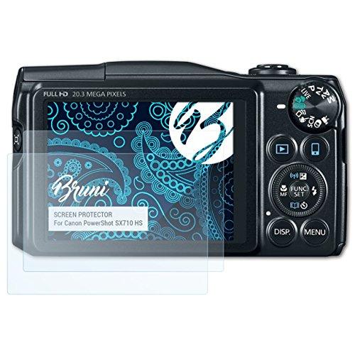 Bruni Schutzfolie kompatibel mit Canon PowerShot SX710 HS Folie, glasklare Displayschutzfolie (2X)