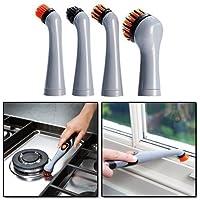 JML Turbo Brush 4 pezzi di ricambio Pulitore sonico ad alta potenza pulizia di precisione Cucina, Bagno, gioielli per pulizia Confezione sostituzione - Sostituzione Porta Pelli