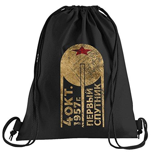 T-Shirt People Sputnik CCCP Satellite Sportbeutel - Bedruckter Beutel - Eine schöne Sport-Tasche Beutel mit (Sputnik Kostüm)