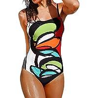 Bikini Teilen Bademode Damen DAY.LIN Frauen Bademode Bikini Print One Piece Push-Up gepolsterte Bade Beachwear
