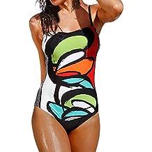 fbff5e6356b1 Costumi da Bagno Donna Costumi da Bagno Bikini Stampa One Piece Push-Up  Imbottito Balneazione