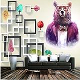 Zybnb Cartoon Purple Bear Childern Fonds D'Écran Modernes Créatifs 3D Fonds D'Écran Pour La Chambre Des Enfants Home Decor Custom Photo Wallpapers Murals-280X200Cm