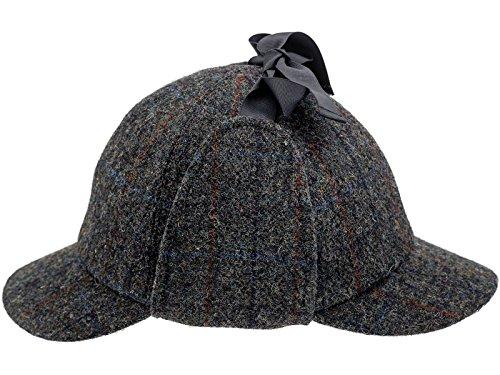 Sterkowski Jagd Harris Tweed Sherlock Deerstalker Mütze 61 cm Dunkelgrau (Vintage Herren Harris Tweed)