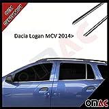 Dacia Logan MCV II 2014> Chrom Fensterleisten 4tlg V2A aus Edelstahl