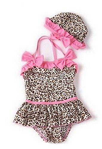 Monkeybrother pop Baby Kleinkind Mädchen niedlich Bademode Bikini Kinder Badeanzug (3T(80-90cm))