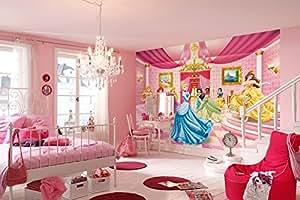 """Komar """"Disney Princess piste de danse"""" Papier peint mural, Multicolore, 8pièces"""
