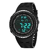 NEEKY Herren Armbanduhr,Sportuhren,Für Unisex Fitness Uhren - Multi-Funktions-wasserdichte Uhr LED Digital Double Action Smartwatch