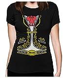 Déguisement Mexicain de Mariachi Hallowen T-Shirt Femme X-Large Noir