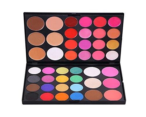 Pure Vie® 44 Couleurs Fard à Paupières Correcteur et Fard à Joues Rouge à Lèvre Palette de Maquillage Cosmétique Set #3 - Convient Parfaitement pour une Utilisation Professionnelle ou à la Maisons