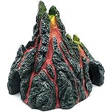 Planta artificial para acuario o pecera volcan con lava
