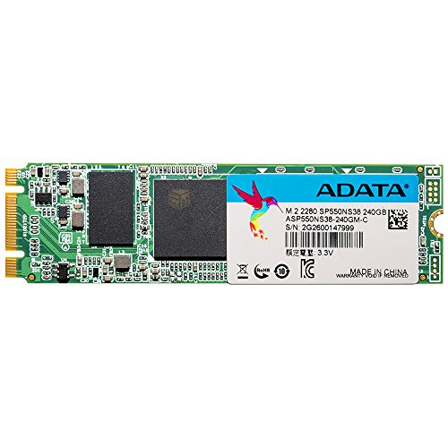 ADATA SP550 240GB M.2 Serial ATA III - Disco duro sólido (240 GB, M.2, Serial ATA III, 560 MB/s, 6 Gbit/s)