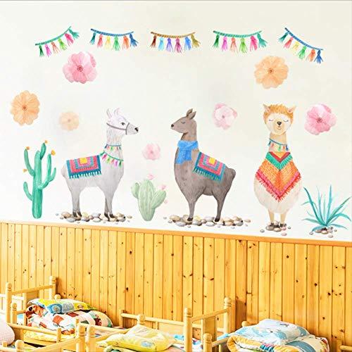 zbinbin Wandaufkleber Tropical Vegetation DREI Schafe Kinderzimmer Kindergarten Urlaub Party Dekoration Aufkleber