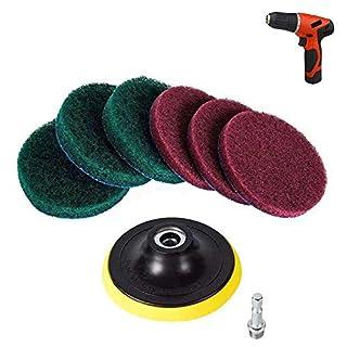 Mikrofaser-Reinigungsset, Schaumstoff-Schwamm, Adapter, Handwerkzeug zum Wachsen von Autos, Bohrer, Waschmaschine, Applikator Free Size 1Set