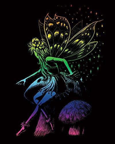 "Arcobaleno Foil incisione Art Kit 8 ""X 10""-fata principessa"