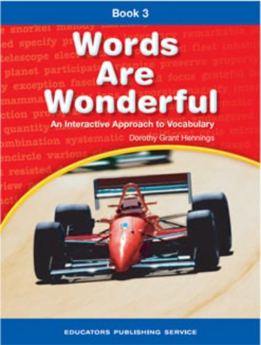Words are Wonderful Book 3: An Interactive Approach to Vocabulary PDF Books