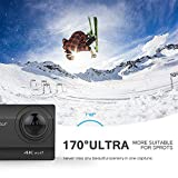 Crosstour 4K 20MP Action Camera WiFi EIS Waterproof  40M with External Microphone and Remote Control