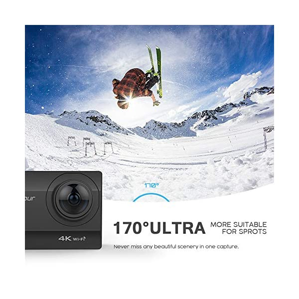 Crosstour 4K 20MP Action Camera Webcam WiFi EIS Waterproof 40M with External Microphone and Remote Control 8