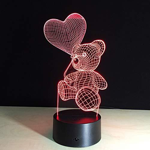 Tragen Sie 3D optische Täuschung Lampe 7 Farbe Acryl Board Touch Button Usb Kabel Abs Cradle Kind Schlafzimmer schmücken Geburtstagsgeschenk Nachtlicht Cradle-kabel