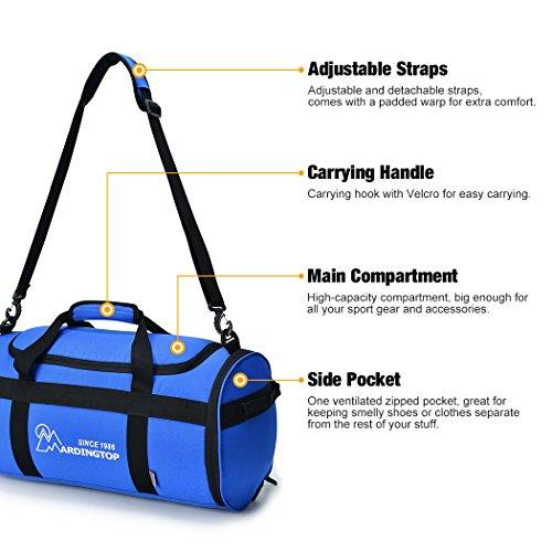 Mardingtop Unisex Sporttasche Tasche Fitnesstasche Reisetasche Gym Bag K?nigsblau