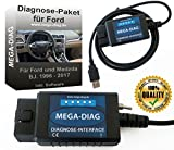 MEGA-DIAG Diagnosegerät FORScan USB Diagnose Interface für Ford und Mazda Focus Smax Mondeo Kuga CMax Mondeo