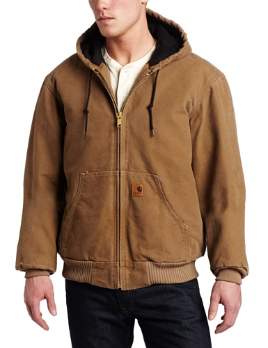 Carhartt Men 's Big & Tall Quilted Flannel-Lined Sandstone Active Jacke J130, braun, J130-FRB (Big Tall Herren-oberbekleidung)