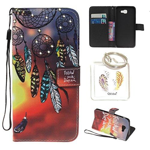 Preisvergleich Produktbild für Galaxy A5 (2016) / SM-A510 PU Leder Silikon Schutzhülle Diamant Handy case Book Style Portemonnaie Design für Samsung Galaxy A5 (2016) / SM-A510 + Schlüsselanhänger (TTY) (1)