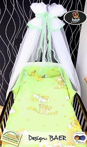 Best For Kids LUX Komplettset Babybett 60x120 cm mit Bettwäsche