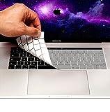 MyGadget Tastaturschutz QWERTZ für Apple MacBook Pro 13' & 15 Zoll Touchbar (ab 2016) - (deutsche Tastatur) Silikon Silikonschutz in Silber