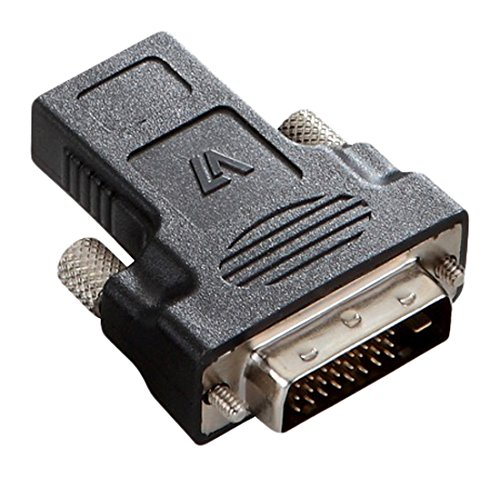 V7 DVI-D Dual Link to HDMI Male to Female Adapter - Black